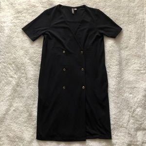 ASOS Black 80s inspired Snap Button Wrap Dress 4